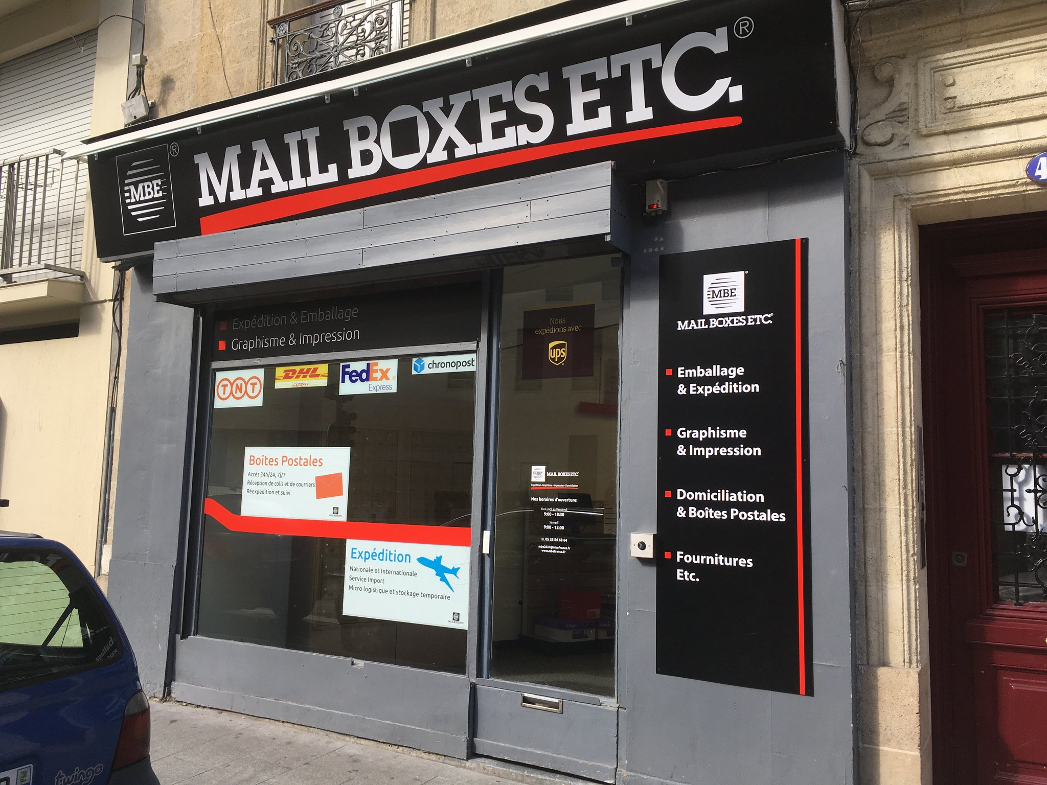Mail Boxes Etc Packaging And Shipping Specialists Le Map Bordeaux